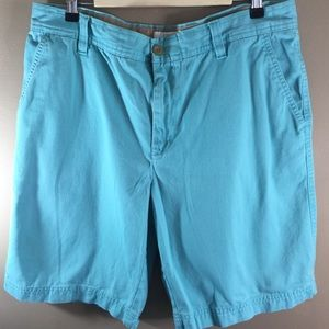 Izod Saltwater Teal Chino Shorts Sz 36